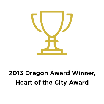 2013 Dragon Award Winner, Heart of the City Award